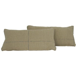 Grain Sack Style Pillows - Pair