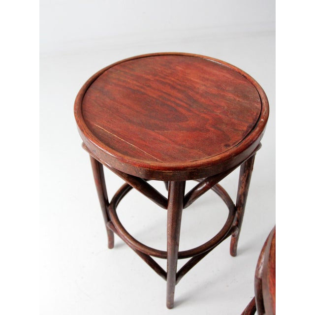 1950's Bentwood Cafe Stools - A Pair - Image 5 of 7