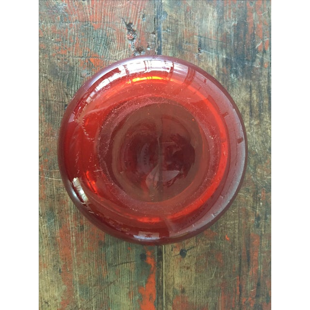 Murano Style Red Ashtray Bowl - Image 6 of 8