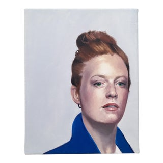 Oil Portrait of Woman with Red Hair