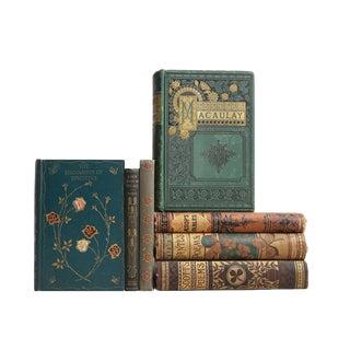 Antique Floral Classic Books - Set of 7