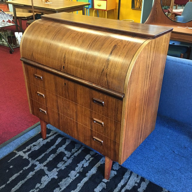 Mid-Century Danish Rosewood Roll-Top Desk - Image 2 of 9