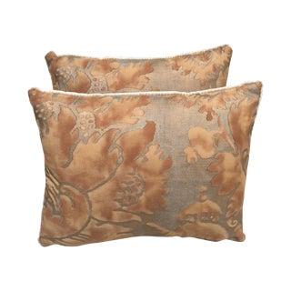 Silk Velvet Fortuny Pillows - Pair