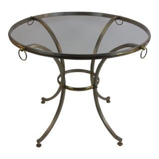 Vintage Brass & Brushed Steel Center Table