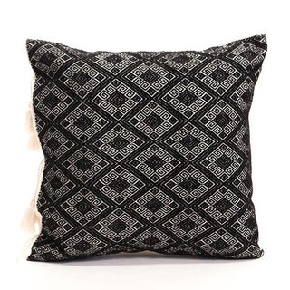 Black Diamonds Handwoven Pillow