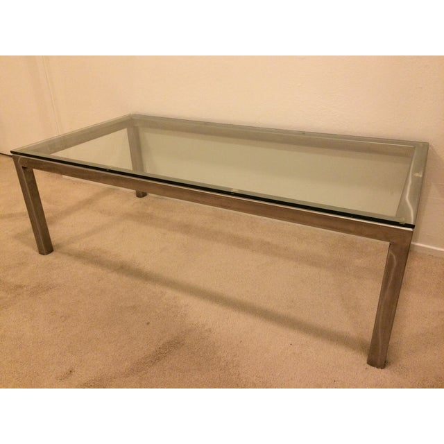 Stainless Steel Glass Coffee Table Chairish