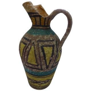 Mid Century Italian Gambone Style Pottery Pitcher
