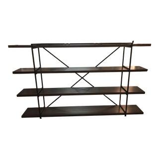 Black Wrought Iron & Wood Shelf Unit