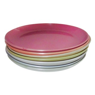 Small Lacquered Dish Plates - Set of 7
