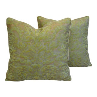 Italian Fortuny Corone Pillows - A Pair