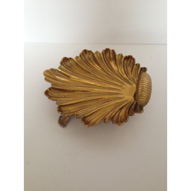 Image of Vintage Brass Shell Dish