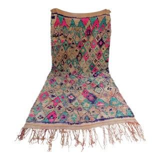 Vintage Moroccan Teal & Purple Talsint Rug - 6′5″ × 11′11″
