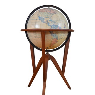 Edward Wormley Rand-McNally Mid Century Terrestrial Floor Globe