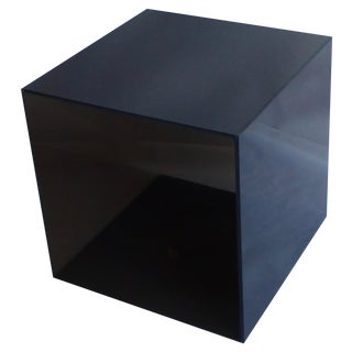 Smoked Lucite Storage Cube