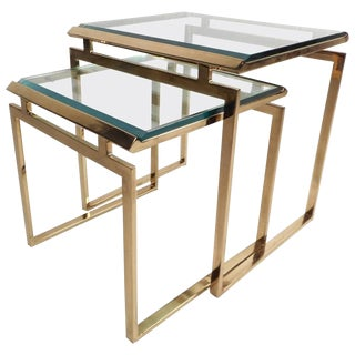 Mid-Century Modern Stacking Tables in the Style of Guy Lefevre