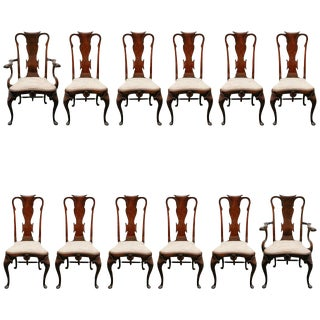 Rare Set of English Dining Chairs