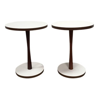 Mid-Century Modern Round Side Tables - A Pair