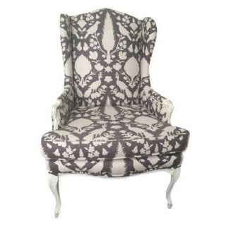 Antique Reupholstered Wing Back Chair