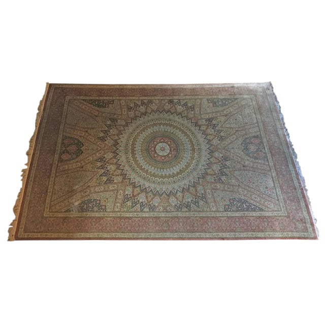 Finely Knotted Silk Qom Carpet - 7′10″ × 11′4″ - Image 1 of 8