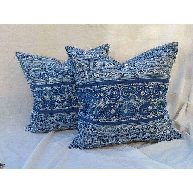 Hill Tribe Batik Pillows- A Pair - Image 2 of 5
