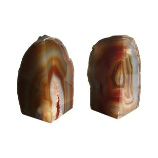 Agate Bookends - Pair