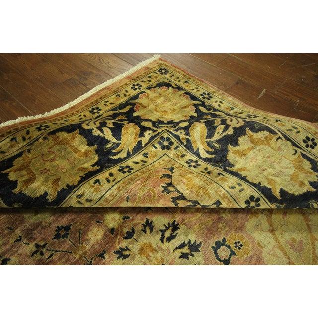 Oushak Blue Floral Chobi Wool Rug - 8' x 10' - Image 9 of 10