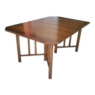 Mid-Century Modern Wood Dining Table