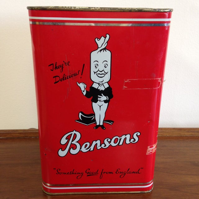 Vintage Bensons Candy Canister - Image 5 of 9