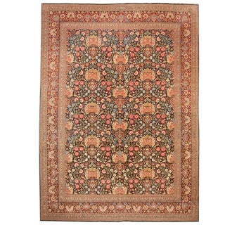Exceptional Antique Persian Dabir Kashan Carpet 'Signed Dabir L Sanaye'