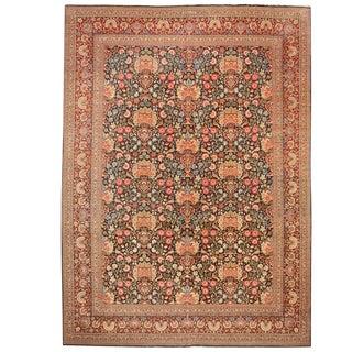 Exceptional Antique Persian Dabir Kashan Carpet 'Signed Dabir L Sanaye'