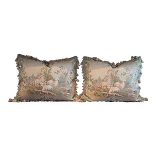 Vintage French Petti-Pointe Pillows - A Pair