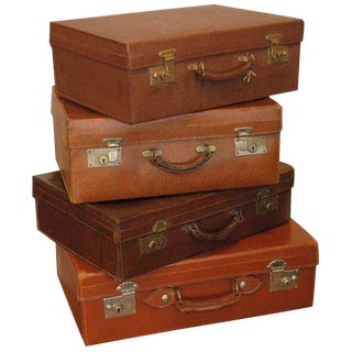 Vintage English Leather Luggages