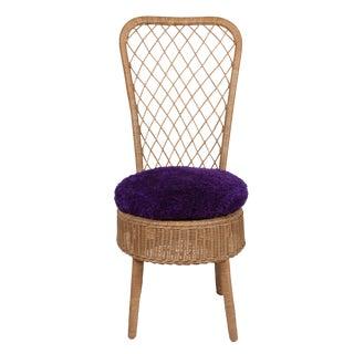 Rattan High Back Chair by Jean Royère
