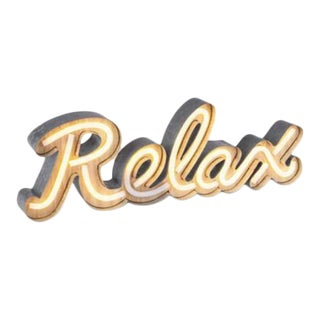 "Neon Led ""Relax"" Sign"