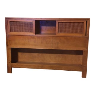 Russell Wright for Conant Ball Full Size Bookcase Headboard