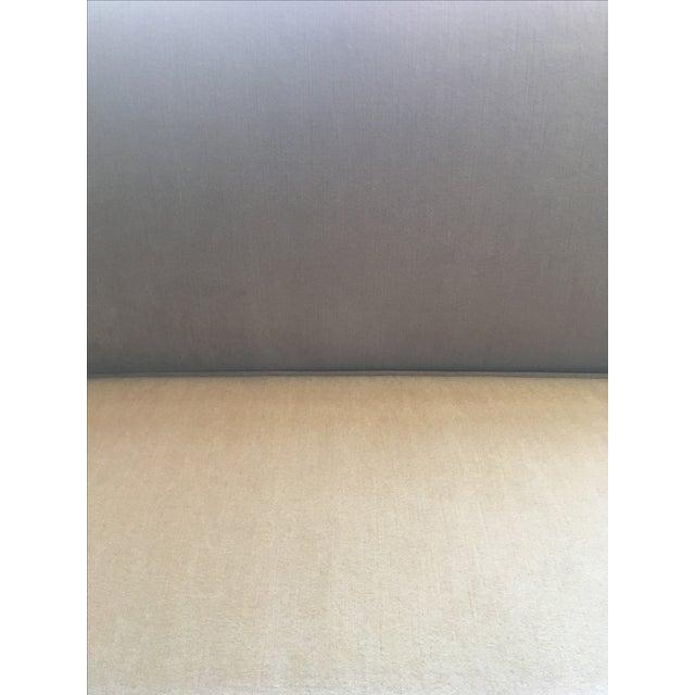 Todd Hase Neutral Teddy Silk Mohair Sofa - Image 4 of 5