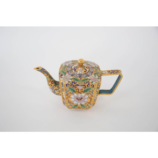 Chinese Champleve Enamel Teapot - Image 3 of 6