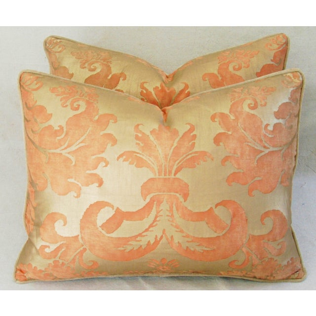 Italian Fortuny Glicine Gold Pillows - Pair - Image 9 of 11