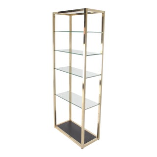 Mid-Century Modern Glass and Metal Etagere