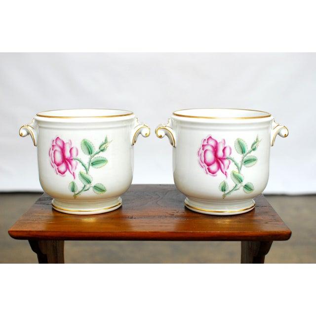 Richard Ginori Italian Cache Pots - A Pair - Image 2 of 5