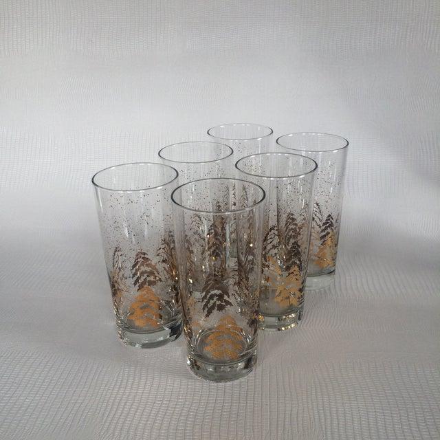 Vintage Dansk Gold Holiday Glasses - Set of 6 - Image 6 of 6