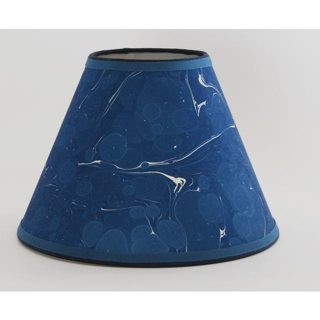 Indigo Marble Lampshade - Image 2 of 3