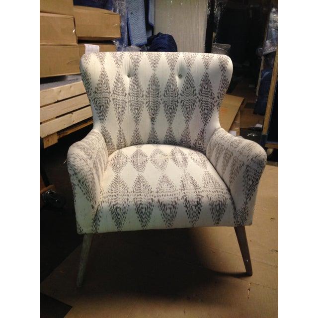 Hardword Frame Lounge Chair - Image 4 of 8