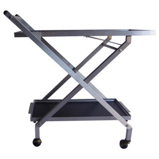 Modernist Industrial Folding Bar Cart