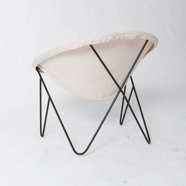 Single California Modernist Hoop Chair with Hairpin Legs - Image 4 of 5