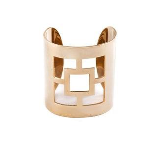 Trina Turk Gold Plated Cutout Cuff Bracelet