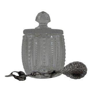Condiment Jar & Silver Spoon Serving Set