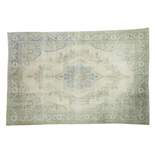 Distressed Turkish Oushak Carpet - 7' x 10'3""
