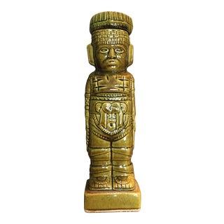 Mid Century Mayan Ceramic Bar Decanter