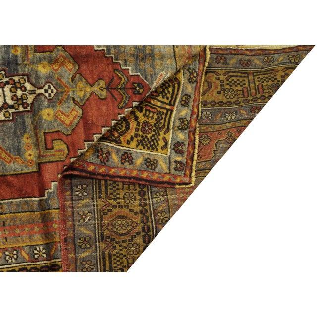 """Vintage Turkish Oushak Rug - 4'10"""" x 11'10"""" - Image 4 of 4"""